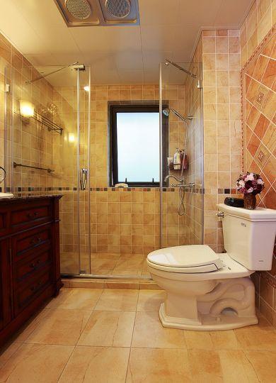 卫生间地板砖混搭风格装修效果图