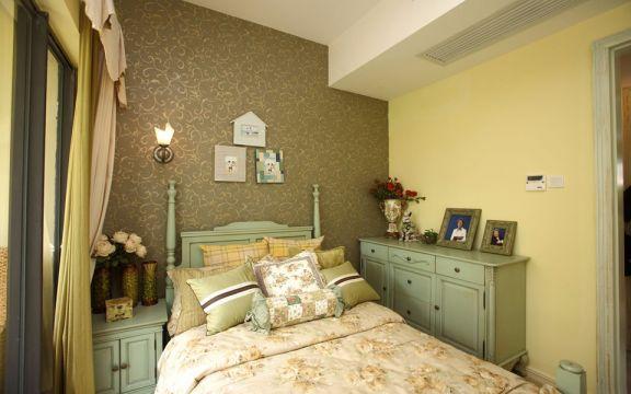 卧室床田园风格装饰效果图