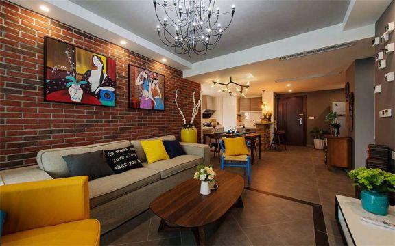 客厅米色沙发混搭风格装饰效果图