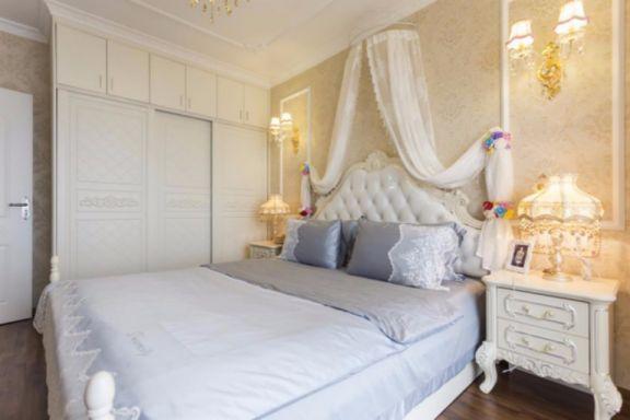 卧室白色床头柜欧式风格装修图片