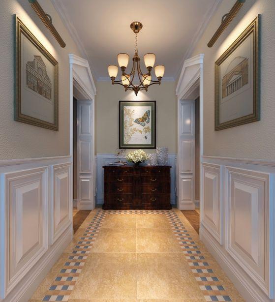 玄关米色走廊美式风格装饰效果图