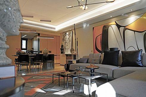 万科后现代风格140平米三居室装修效果图