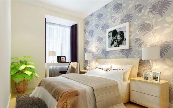 2021简约卧室装修设计图片 2021简约窗帘装修设计图片