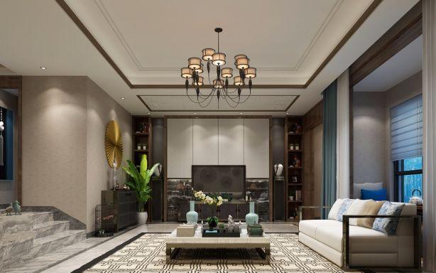 别墅4房2厅新中式风格装修效果图
