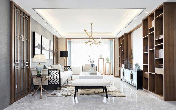 金源太古城中式风格69平方二居室装修效果图