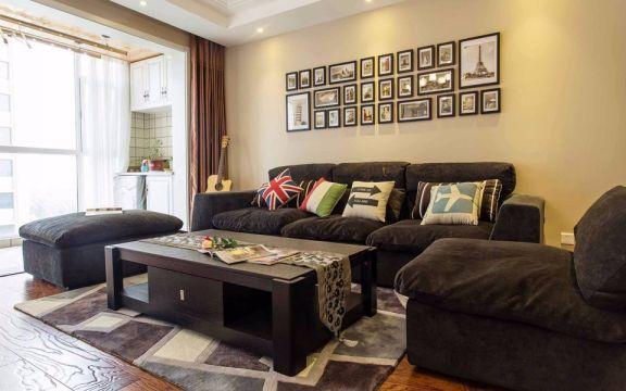 中南世纪雅苑89平米简美风格三居室装修效果图