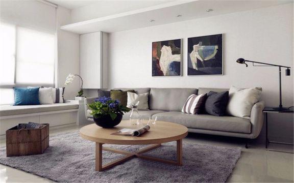 汇厦少城70平极简风格两居室装修效果图