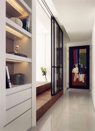 客厅走廊简约风格装潢效果图
