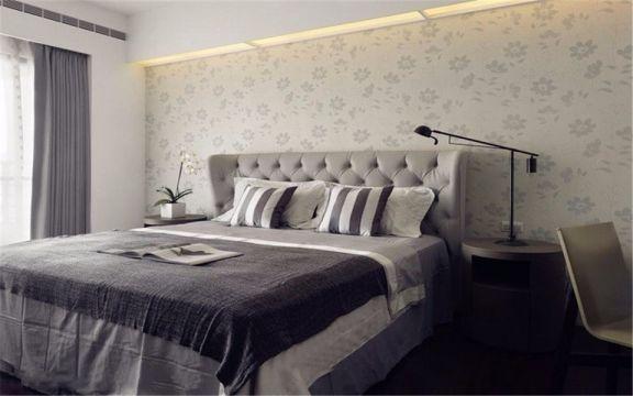 卧室床简约风格装饰图片