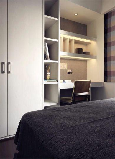 卧室书桌简约风格装饰设计图片