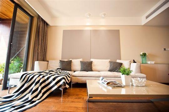 大富新领地87平简约三居室装修效果图