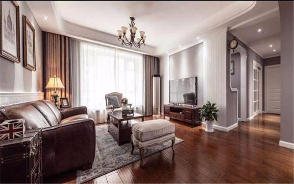客厅走廊美式风格装饰效果图