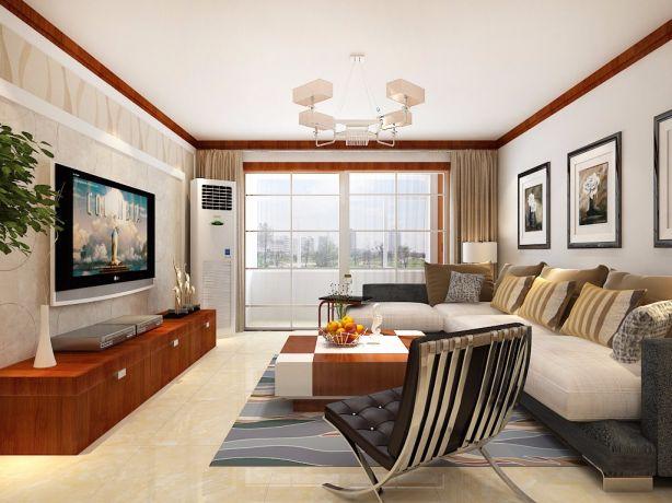 中式风格138平米三室两厅新房装修效果图