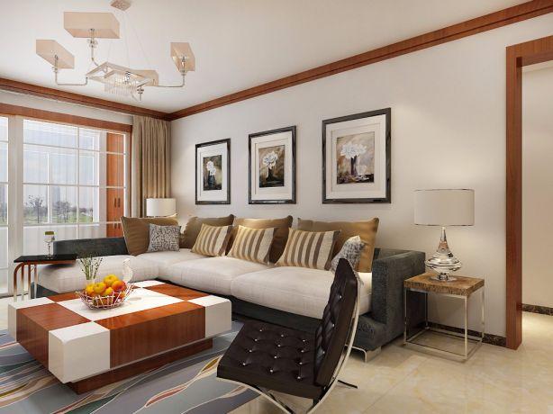 客厅沙发中式风格装饰图片