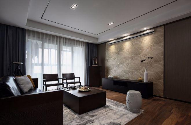 客厅背景墙新中式风格装饰设计图片