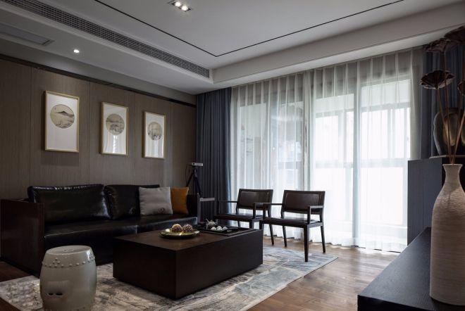 客厅照片墙新中式风格效果图