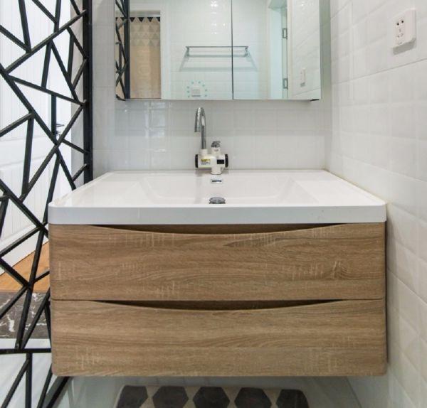 卫生间洗漱台北欧风格装修效果图