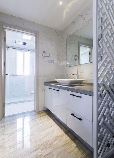 卫生间洗漱台现代简约风格装饰设计图片