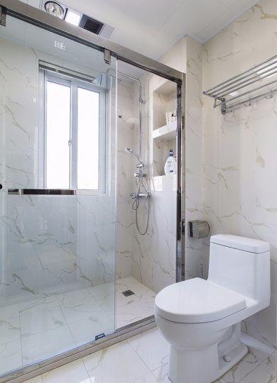 卫生间推拉门现代简约风格装潢设计图片