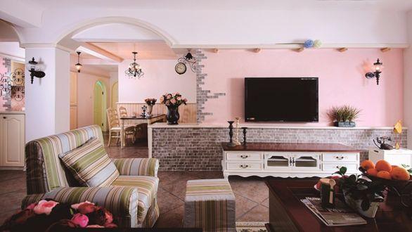 万科金色悦城田园95平二居室装修效果图