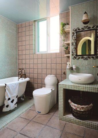 卫生间洗漱台田园风格装潢图片