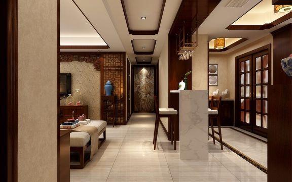 玄关走廊新中式风格装修效果图