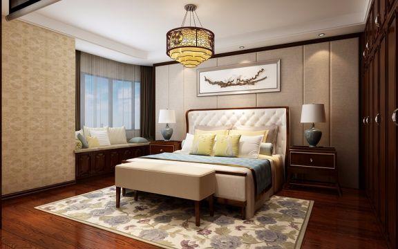 东华园180平米新中式四室两卫装修效果图