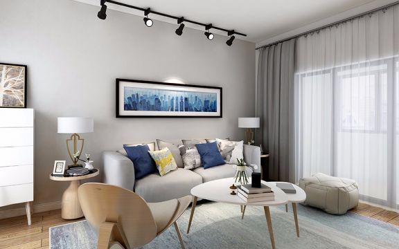 114平米现代简约二居室装修效果图