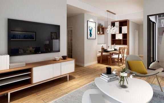客厅隔断简约风格装饰设计图片