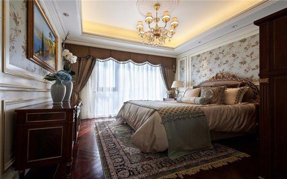 金陵大公馆137平欧式风格三室两厅两卫装修效果图