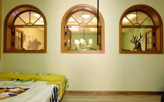 卧室白色背景墙美式风格装潢设计图片