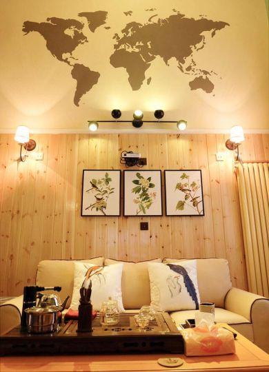 温暖黄色客厅室内装修设计