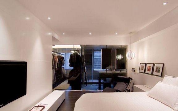 卧室白色床简约风格装修效果图
