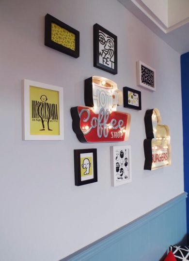 餐厅白色照片墙北欧风格装饰效果图