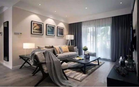 现代风格88平米三室两厅新房装修效果图