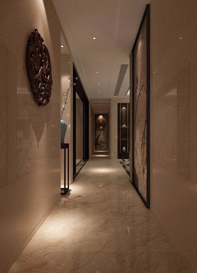 玄关地砖新中式风格装饰效果图