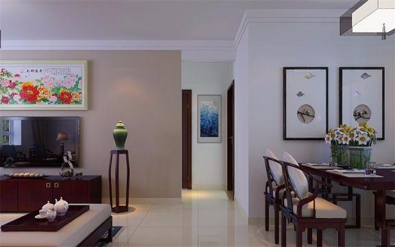 起居室走廊新中式风格装修设计图片
