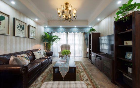 大地伊丽雅特湾123平米简美风格三居室装修效果图