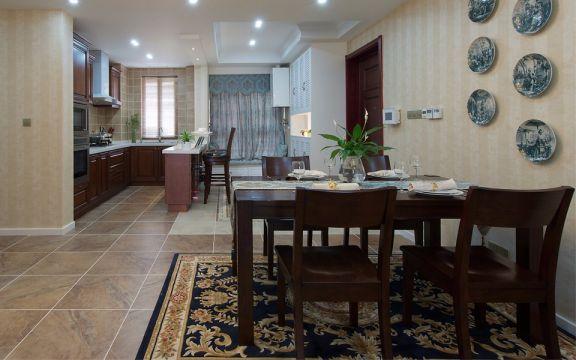 餐厅餐桌美式风格装饰效果图