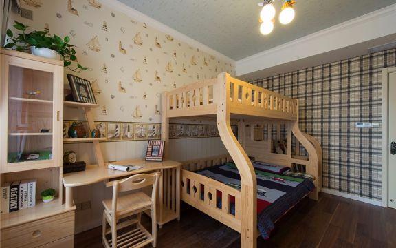 儿童房床美式风格装修设计图片