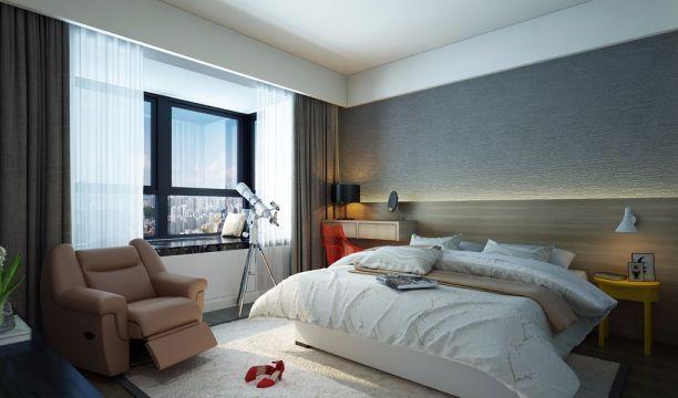 98平米现代简约二居室装修效果图