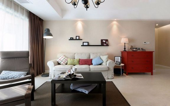 简约风格101平米三室两厅新房装修效果图