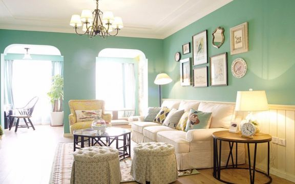 万科金域国际90平两室两厅美式装修效果图