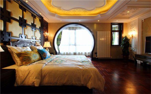 卧室黑色床装饰设计图片