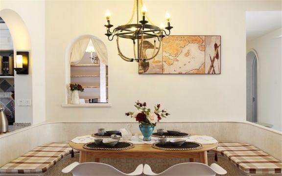 餐厅吊顶田园风格装饰图片