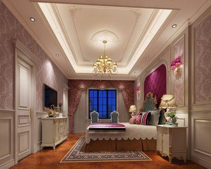 2021欧式卧室装修设计图片 2021欧式窗帘装修效果图片