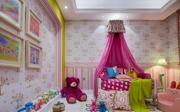 2021简欧儿童房装饰设计 2021简欧照片墙装修效果图大全