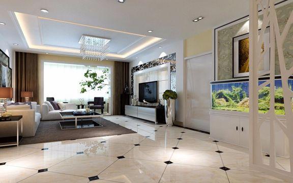 观澜时代120平米现代简约风格三居装修效果图