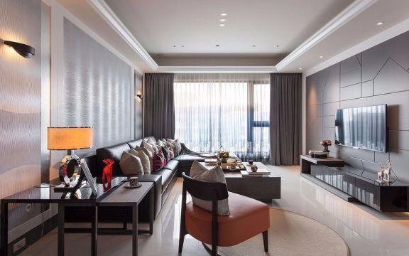现代风格106平米三室两厅新房装修效果图