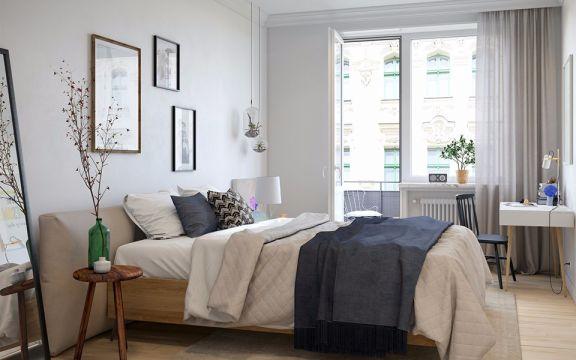 北欧风格69平米两室两厅新房装修效果图